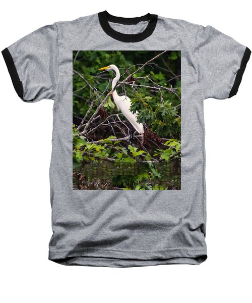 Great White Egret Baseball T-Shirt