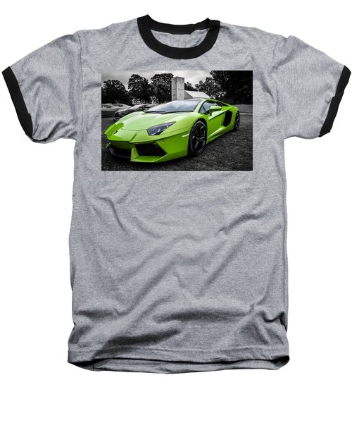 Green Aventador Baseball T-Shirt