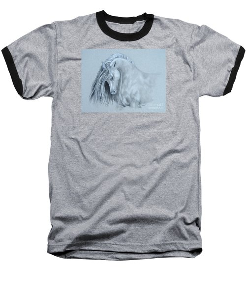 Grey Horse Baseball T-Shirt