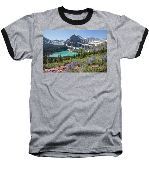 Grinnell Lake Flowers Baseball T-Shirt