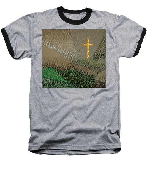 Baseball T-Shirt featuring the drawing Depression And The Saviour by Rod Ismay