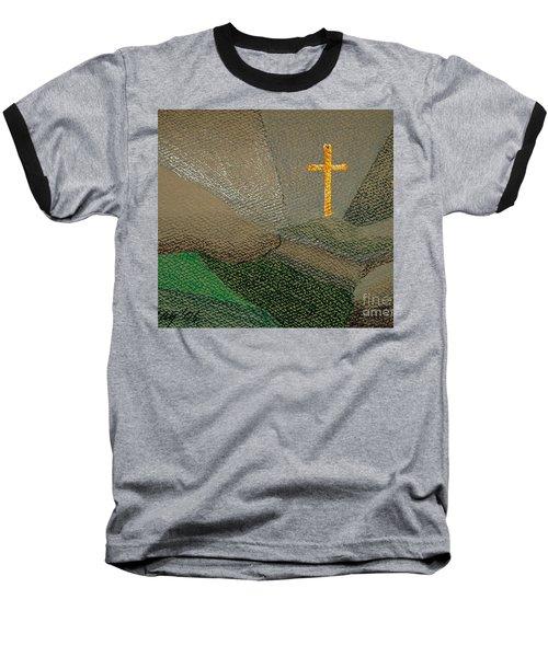 Depression And The Saviour Baseball T-Shirt by Rod Ismay