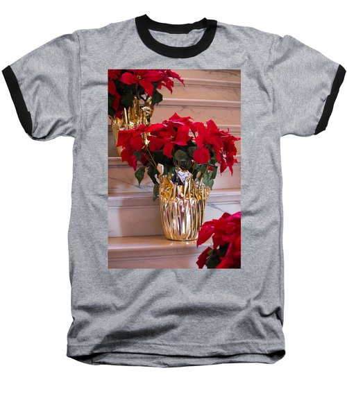 Happy Holidays Baseball T-Shirt by Patricia Babbitt