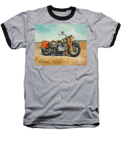 Harley Davidson Wla 1942 Baseball T-Shirt