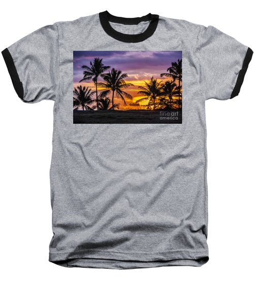 Hawaiian Sunset Baseball T-Shirt by Juli Scalzi