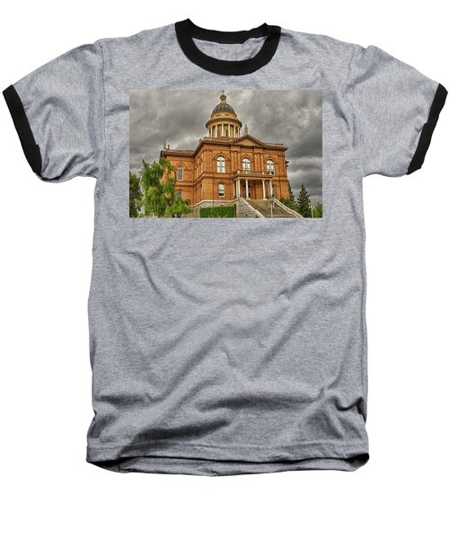 Historic Placer County Courthouse Baseball T-Shirt by Jim Thompson