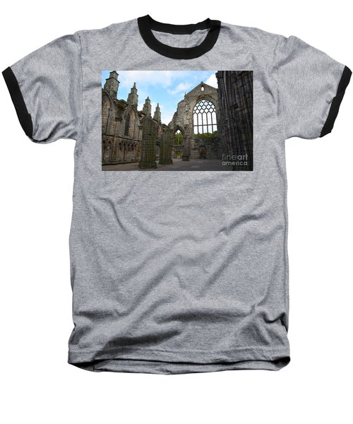 Holyrood Abbey Ruins Baseball T-Shirt