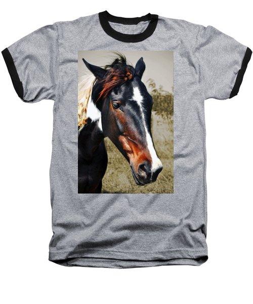 Baseball T-Shirt featuring the photograph Horse by Savannah Gibbs