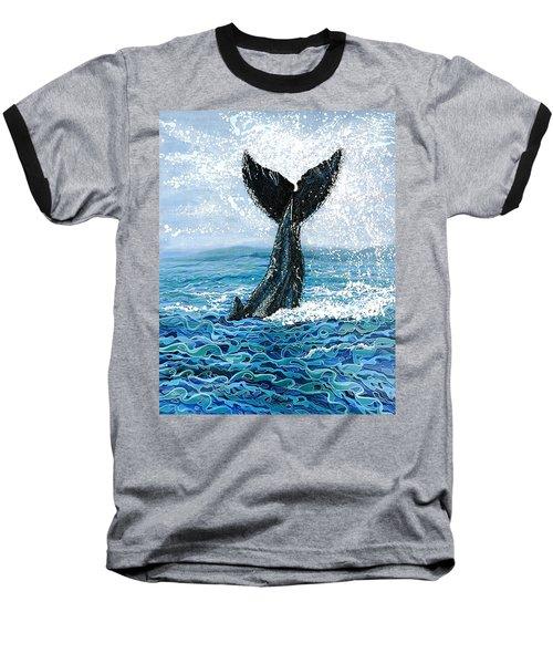 Humpback Flukes Baseball T-Shirt