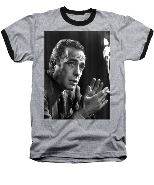Humphrey Bogart Portrait 2 Karsh Photo Circa 1954-2014 Baseball T-Shirt