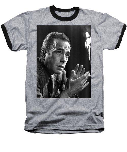 Humphrey Bogart Portrait 2 Karsh Photo Circa 1954-2014 Baseball T-Shirt