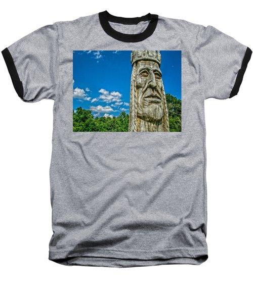 Indian Chief Charlestowne Landing Baseball T-Shirt