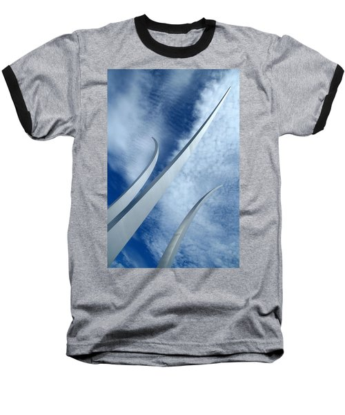 Baseball T-Shirt featuring the photograph Into The Clouds by Cora Wandel
