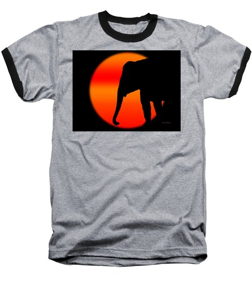 Into The Night Baseball T-Shirt by Robert Orinski