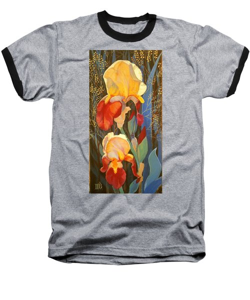 Irises Baseball T-Shirt by Marina Gnetetsky