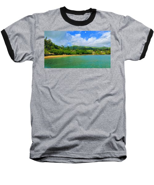 Baseball T-Shirt featuring the painting Island Of Maui by Michael Rucker