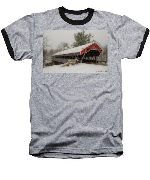 Jackson Nh Covered Bridge Baseball T-Shirt by Brenda Jacobs