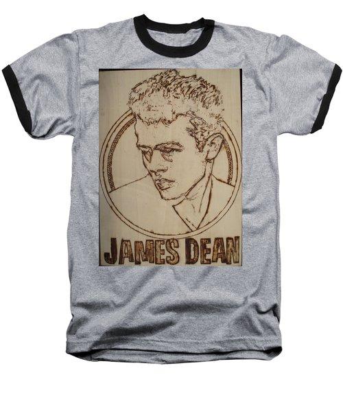 James Dean Baseball T-Shirt by Sean Connolly