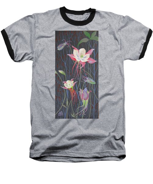 Japanese Flowers Baseball T-Shirt by Marina Gnetetsky