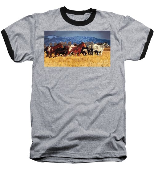 Joe's Horses Baseball T-Shirt by Tim Gilliland
