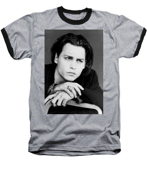 Baseball T-Shirt featuring the photograph Johnny Depp by Karon Melillo DeVega