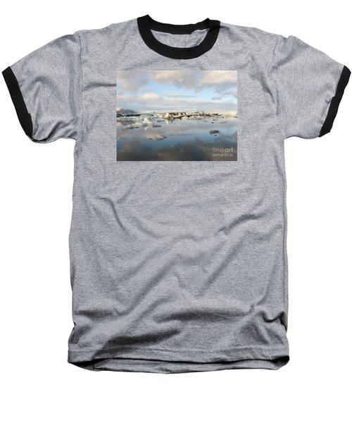 Jokulsarlon Glacier Lagoon Baseball T-Shirt by IPics Photography