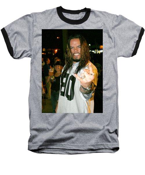 Baseball T-Shirt featuring the photograph Josey Scott  Saliva by Don Olea