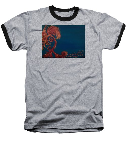 Baseball T-Shirt featuring the painting Jumbie Under De' Ocean by Robert Nickologianis