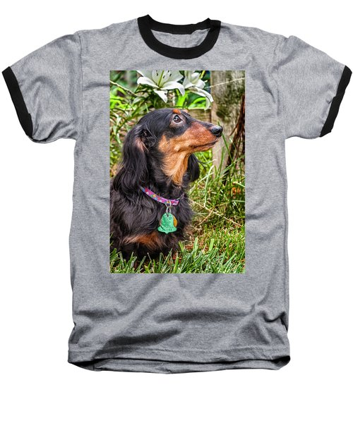Baseball T-Shirt featuring the photograph Katie by Jim Thompson