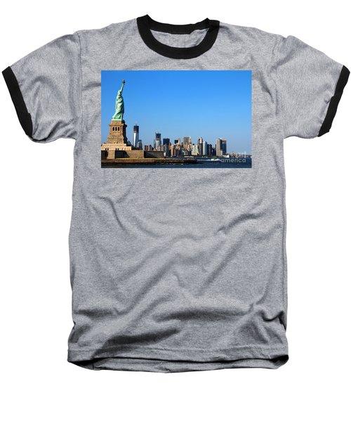 Lady Liberty Watches 1wtc Rise Baseball T-Shirt