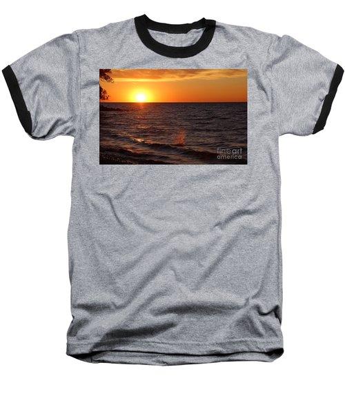 Lake Ontario Sunset Baseball T-Shirt