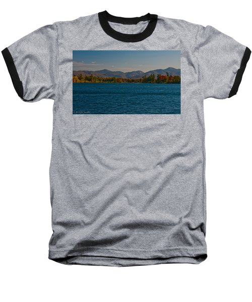 Lake Placid And The Adirondack Mountain Range Baseball T-Shirt