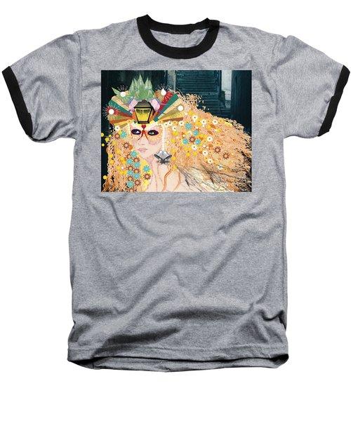Baseball T-Shirt featuring the digital art Lantern Fairy by Kim Prowse