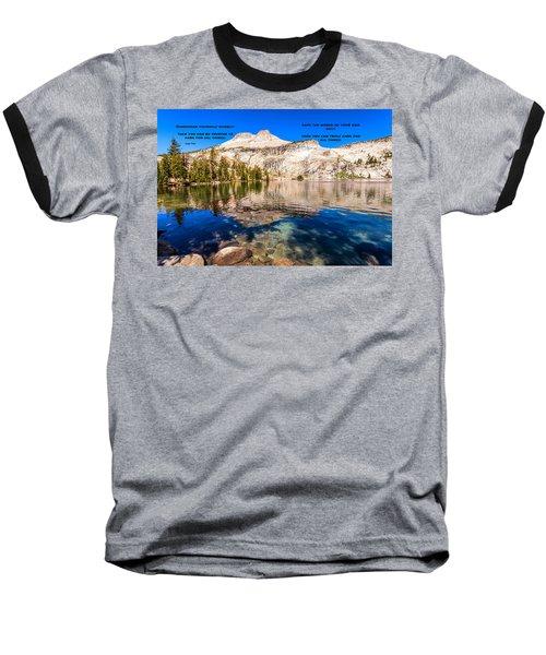 Lao Tzu Quotes Baseball T-Shirt