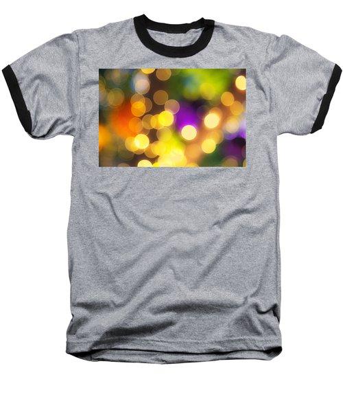Light Circles Baseball T-Shirt by Susan Stone