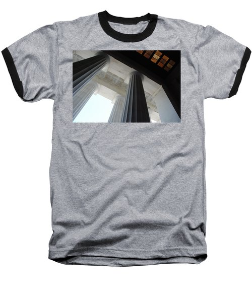 Lincoln Stained Glass And Columns Baseball T-Shirt