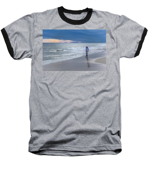 Little Girl At The Beache Baseball T-Shirt