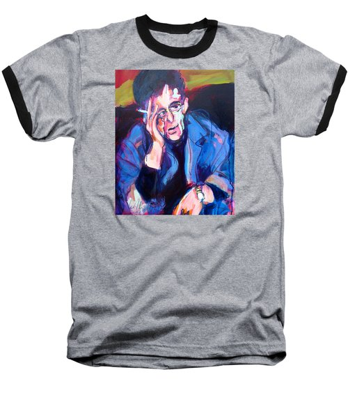 Baseball T-Shirt featuring the painting Lou Reed by Les Leffingwell
