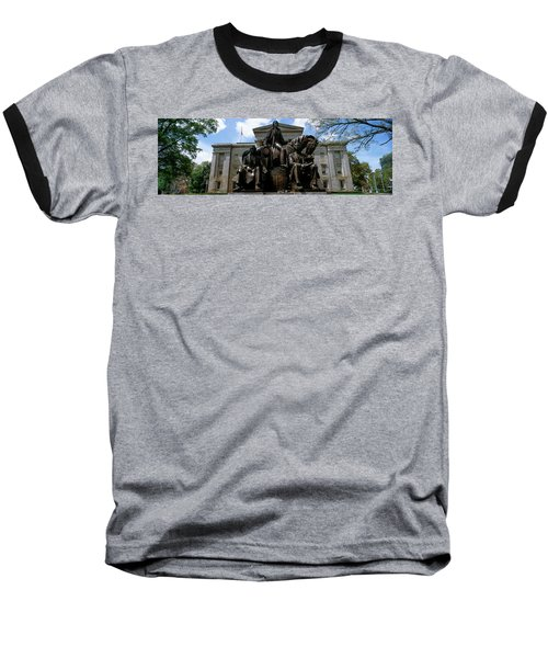 Low Angle View Of Statue Baseball T-Shirt