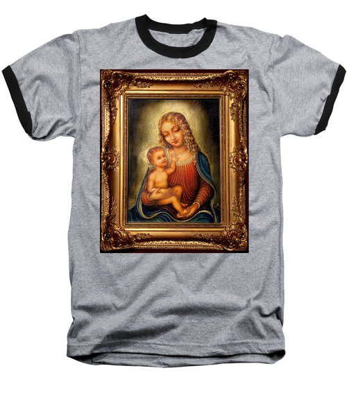 Madonna Beata Baseball T-Shirt by Ananda Vdovic
