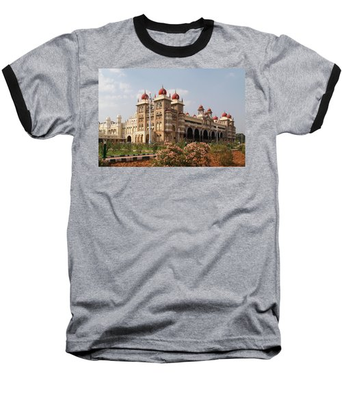 Maharaja's Palace And Garden India Mysore Baseball T-Shirt by Carol Ailles