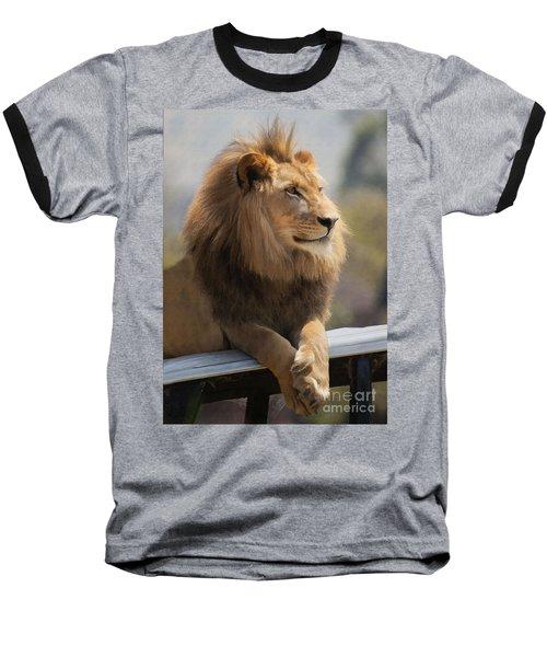 Majestic Lion Baseball T-Shirt