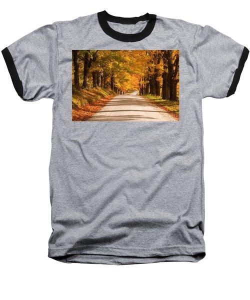 Maple Tree Canopy Baseball T-Shirt
