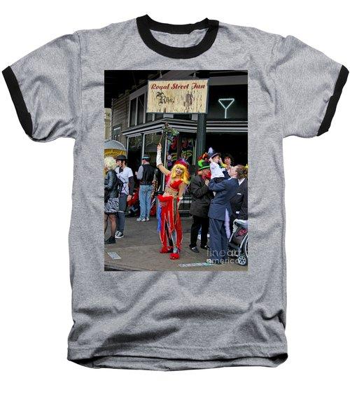 Baseball T-Shirt featuring the photograph French Quarter Mardi Gras by Luana K Perez