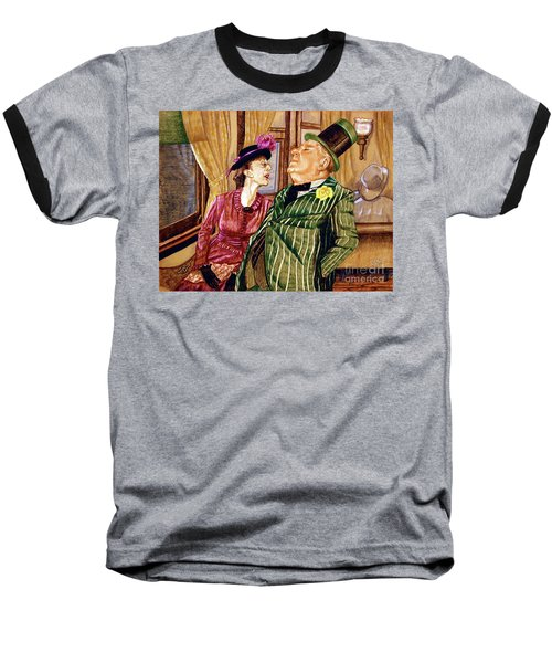 Margaret And W.c. Fields Baseball T-Shirt by Linda Simon
