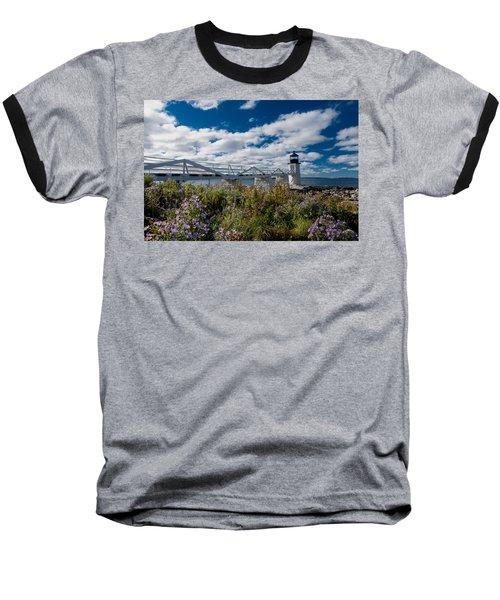Marshall Point Lighthouse Baseball T-Shirt