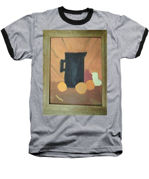Baseball T-Shirt featuring the painting #1 by Mary Ellen Anderson