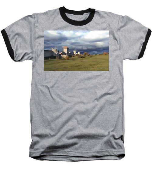 Medieval City Wall Defence Baseball T-Shirt