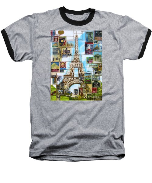 Baseball T-Shirt featuring the painting Memories Of Paris by Joseph Sonday