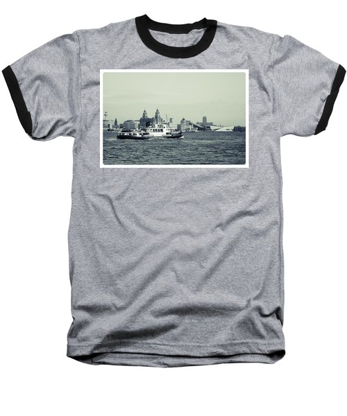 Mersey Ferry Baseball T-Shirt by Spikey Mouse Photography